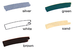 Standard Awning Frame Colors