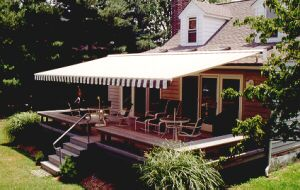 Retractable Awning over Deck