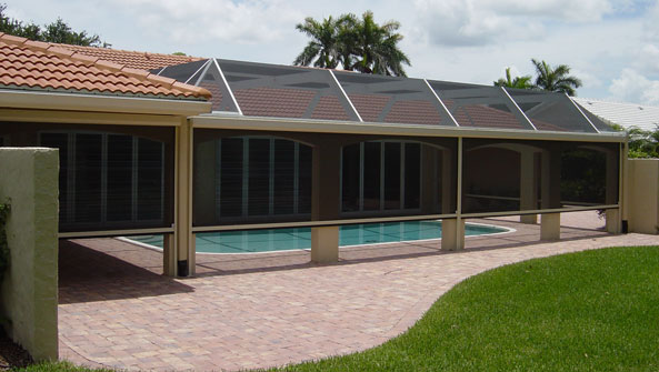 Solar Screens, Exterior Rolling Solar, Manual Solar Motorized Screens